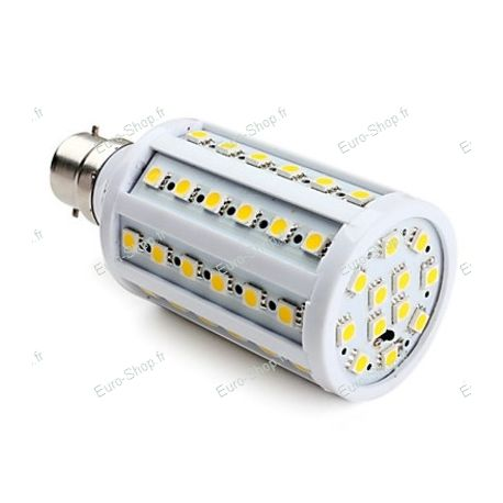 Ampoule Led B22 60 Leds 12w blanc chaud 360° Led smd 1050 Lumens