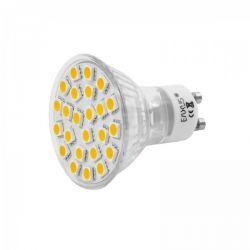 Ampoule GU10 24 led Smd 5w blanc chaud basse conso 220v