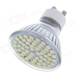 Ampoule GU10 60 leds Smd 4w blanc froid basse conso 220v