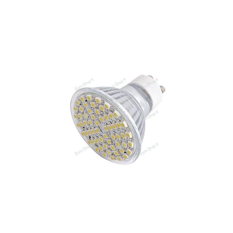 Ampoule led gu10 60 led smd 4w blanc froid basse - Consommation ampoule led ...