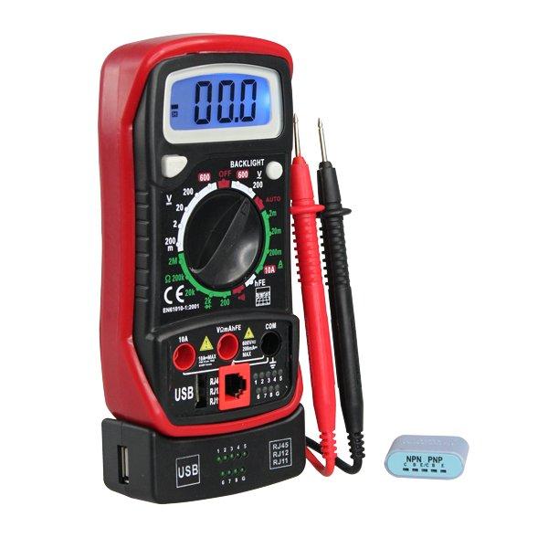 Multimètre testeur multi-fonctions 2000 points 600v