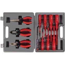Coffret 11 outils 3 pinces et 7 tournevis et un testeur