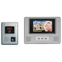 Interphone portier vidéo couleur avec câble de 15m