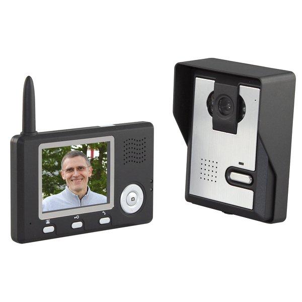 Interphone portier vidéo couleur sans fil portée 300m
