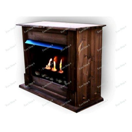 Cheminée éthanol 3 brûleurs + meuble 11 couleurs au choix