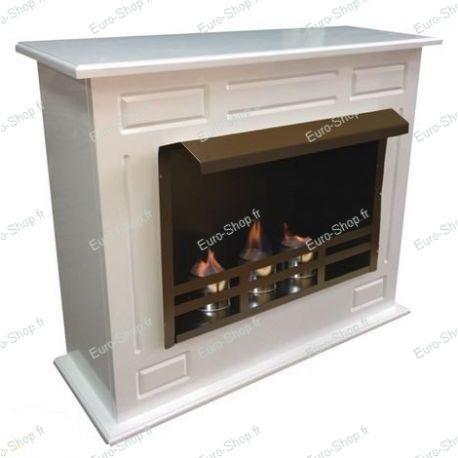 Cheminée éthanol design 3 brûleurs avec son meuble