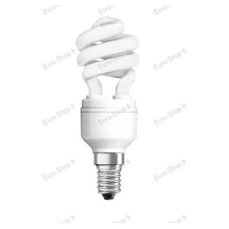 Ampoule fluocompacte E14 spirale 8 watts