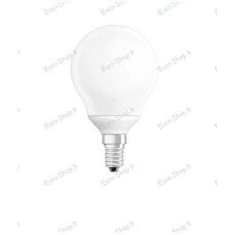 Ampoule fluocompacte E14 type globe