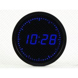 Horloge à LED bleu