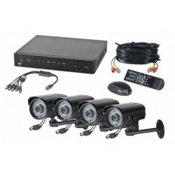 Kit vidéosurveillance avec 4 cameras extérieures 600TVL