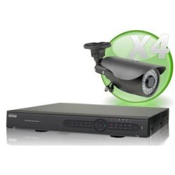 Kit videosurveillance 960H avec 4 cameras 700TVL