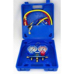Manifold professionnel pour climatisation R22 R134 R404