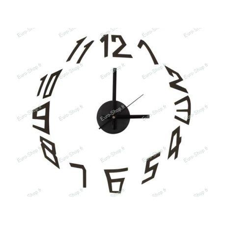 Horloge murale silencieuse autocollante