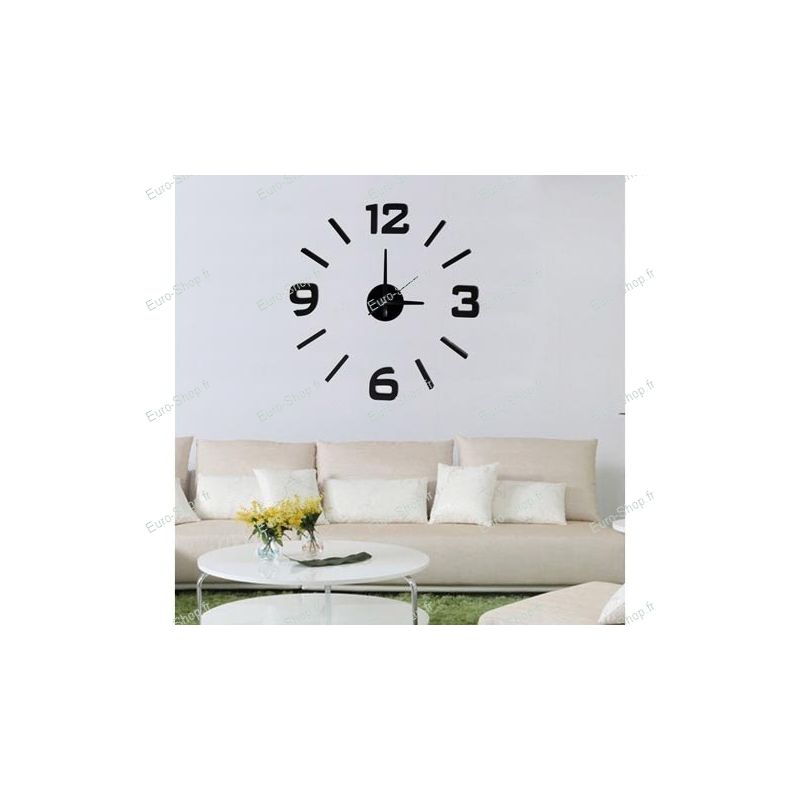 horloge murale autocollante horloge autocollante. Black Bedroom Furniture Sets. Home Design Ideas