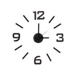 Horloge murale autocollante silencieuse